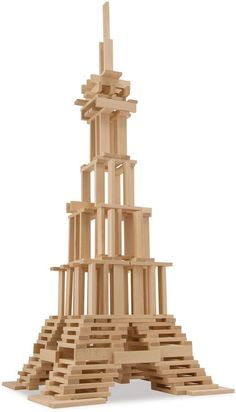 Asstd National Brand Eichhorn - 200 Piece Wooden Construction Kit Craft Stick Projects, Craft Stick Crafts, Jenga Blocks, Stem For Kids, Popsicle Sticks, Stem Activities, Wood Toys, Toys For Boys, Legos