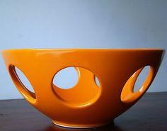 Orange retro fruit bowl by RetroBoulotDodo on Etsy, €25.00