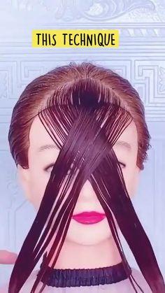 Hair Cutting Videos, Hair Cutting Techniques, Cutting Hair, Great Hair, Love Hair, Hair Upstyles, Hair Dos, Hair Designs, Hair Hacks