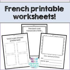 French back to school resources! French Flashcards, French Worksheets, Spanish Teaching Resources, School Resources, French Resources, Primary Resources, Spanish Activities, Teacher Worksheets, Printable Worksheets