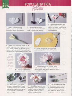 Todo Flores de Porcelana Fria: Rosa en porcelana fria Paso a Paso 06