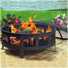 Fire Pit Ring, Fire Pit Bowl, Metal Fire Pit, Wood Burning Fire Pit, Diy Fire Pit, Fire Pit Backyard, Backyard Seating, Backyard Landscaping, Fire Pit Screen