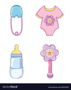 Cute baby collection cartoons vector image on VectorStock Baby Cartoon Drawing, Cute Cartoon Girl, Baby Drawing, Baby Mehndi Design, Baby Design, Dibujos Baby Shower, Moldes Para Baby Shower, Baby Diary, Birthday Card Drawing
