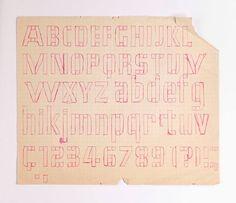 Adrian Frutiger. Alphabet und Ziffern der Element-Grotesk 1953. Deberny et Peignot, Paris (Museum für Gestaltung Zürich)