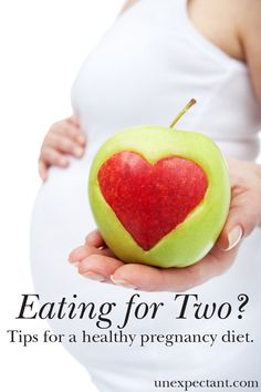 Eating for Two? Tips for a Healthy Pregnancy Diet | Great info on what a healthy pregnancy diet looks like and includes a sample meal plan for easy planning.