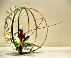 ball shape japanese flower arrangement 1