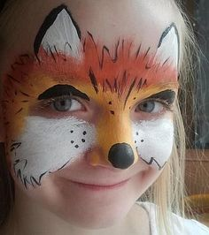 Lady Fox: Sankt Augustin, NRW, Germany Situated near Cologne/Germany. (Kindersc… – Hobbies paining body for kids and adult Fox Face Paint, Mime Face Paint, Face Painting Designs, Paint Designs, Body Painting, Fox Makeup, Kids Makeup, Animal Face Paintings, Animal Faces