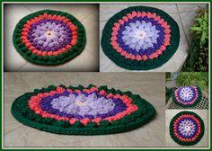 Crochê / Crochet / Croche: Crochet Rag Rug.  My Rag Crochet Blog: helenacc.blogspot.com.br