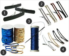 Your supplies for a quickie DIY hair accessory