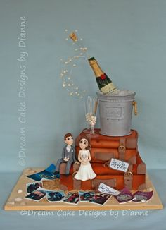 DAVE & CHELSEA ~ VINTAGE SUITCASE AND CHAMPAGNE THEME
