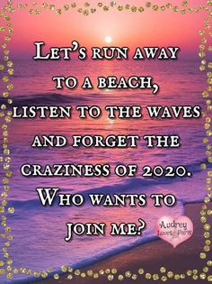 I Love The Beach, My Love, Lets Run Away, Running Away, Make Me Smile, Waves, Let It Be, Wave