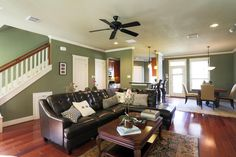 open living dining room with ceiling fan - Google Search