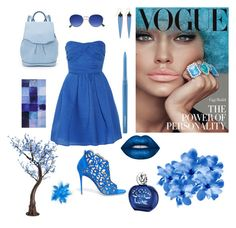 """blue style"" by lettttttyyyyy77 ❤ liked on Polyvore featuring Carven, René Caovilla, rag & bone, Alexis Bittar, Sisley, Lime Crime and MAC Cosmetics"