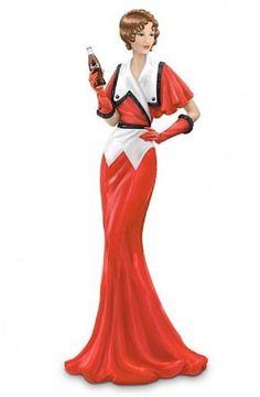 "Coca-Cola - ""Elegance Through Decades"" - Where There Is Coca-Cola There Is Fashion Coca Cola Lady Figurine Coca Cola Ad, Always Coca Cola, Vintage Coke, Vintage Ladies, Vintage Signs, Fashion Dolls, Fashion Art, Fashion Design, Coca Cola Merchandise"