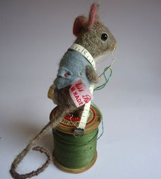 Needle Felted  Tailor Mouse by MissBumbles on Etsy