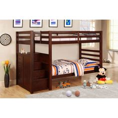 $449 AD1865 Twin Bunk Bed w/Drawers/Optional Trundle