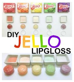 JELLO Lip Gloss DIY Jello Lip Gloss {could work & be an interesting little item to have I suppose.}DIY Jello Lip Gloss {could work & be an interesting little item to have I suppose. Homemade Lip Balm, Homemade Moisturizer, Diy Lip Balm, Homemade Beauty, Diy Beauty, Beauty Tips, Beauty Hacks, Beauty Care, Beauty Products