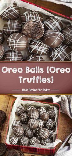 Oreo Balls (Oreo Truffles) | Best Recipe 005 Best Dessert Recipes, No Bake Desserts, Healthy Desserts, Sweet Recipes, Delicious Desserts, Easy Recipes, Healthy Recipes, Cake Recipes For Beginners, Chocolate Melting Wafers