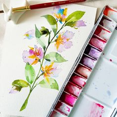 """760 mentions J'aime, 39 commentaires - 🙆 Nikki (@paintinkco) sur Instagram : """"~say yes to painting imaginary flowers ⚘👩🎨🎨 . . this was inspired by the beautiful floral stalk…"""""""