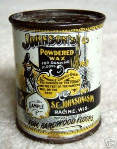 Sample Size Johnsonu0027s Powdered Wax Advertising Tin. Sprinkle Lightly Over  The Surface Of The Floor
