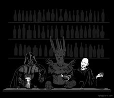 Three Dark Lords Walk Into a Bar.... And Sauron swept the floor with the other two losers!