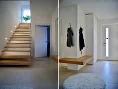 Anteroom by krumhuber.design material white matt oak sanremo krumhuber-desig … - Home Decor Interior Exterior, Interior Architecture, Interior Design, Design Design, Concrete Staircase, Vestibule, House Stairs, Home And Living, Sweet Home