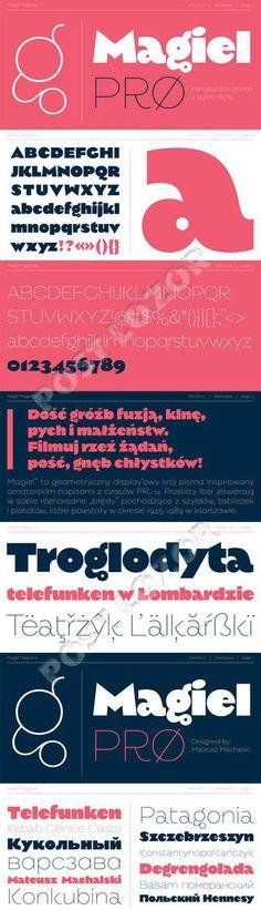 Magiel PRO display Font