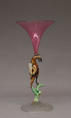 Wineglass, 19th century  Italian, Venice (Murano) Glass
