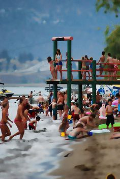 Gyro Beach, Kelowna, BC -- Curated by: Planet Lazer Kelowna Visit Canada, O Canada, Things To Do In Kelowna, Sand Volleyball Court, Vancouver City, Packing To Move, Largest Countries, Quebec City, Wine Country