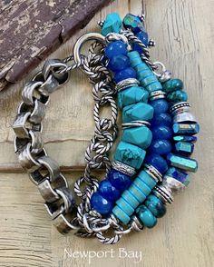 bracelet, lapis lazuli bracelet, turquoise jewelry, turquoise bracelet, chalcedony bracelet, bohemian bracelet, Christmas for her, lapis by soulfuledges on Etsy Bohemian Bracelets, Jewelry Bracelets, Jewlery, Turquoise Jewelry, Turquoise Bracelet, Xmas Gifts For Her, Expensive Stones, Lapis Lazuli Bracelet, Blue Chalcedony