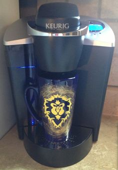 World of Warcraft Inspired Alliance Coffee Cup on Etsy, $17.00