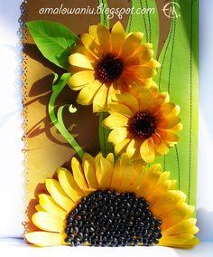 Cvijeće izrađene OD papira. Suncokreti (17) (579x700, 329Kb)