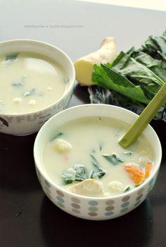 Moje Dietetyczne Fanaberie: Kokosowa zupa z kalafiorem i kurczakiem
