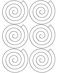 Flower Spiral Paper Rose Template