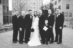 Bridal party photos at the Inn at the Colonnade. Captured by Baltimore wedding photographer Ben Lau.