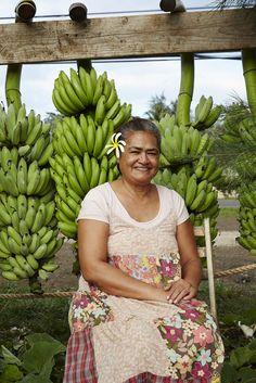 Banana farmer Oahu, Hawaii