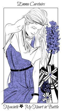 Shadowhunter Flowers By Cassandra Jean * Emma Carstairs: Jacinto - Mi corazón en lucha/Conflicto