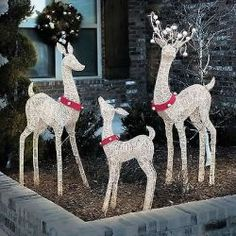 outdoor christmas decorations 3 pc lighted reindeer set holiday decorations new christmas pinterest outdoor christmas