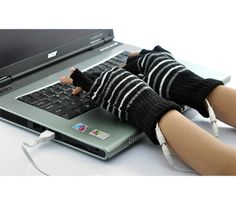 USB Heated Gloves - The Gifted Man Online....for those of us that have freeezin a** offices these are awesome!