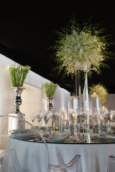Large vases with white flowers  Planet Flowers: