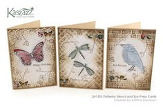 2H1293 Flutterby Stencil and Ezy-Press Cards
