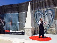 My friend @ sommeliermarco is the first speaker on the Mexican side of the stage. # tedxmonumento258  # Tijuana