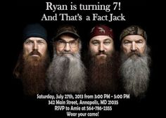 Duck Dynasty Birthday Party Invitation - Printable File