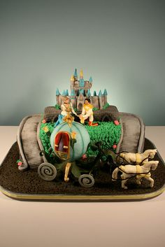 Cinderella 25th Wedding Anniversary Cake by marksl110, via Flickr