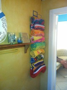 wine rack beach towel holder - for refrigerator area?