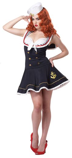 Pin-Up Sailor Costume Idea