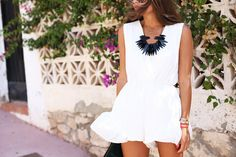 white jumpsuit (Seams for a desire) White Jumpsuit, Spring Summer Fashion, Style Inspiration, Style Ideas, Style Me, Rompers, Street Style, Detail, How To Wear