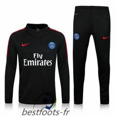 Officiel Nouveau Survetement de foot Paris PSG Noir 2016 2017