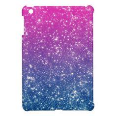 Magenta Ombre Glitter iPad Mini Cover