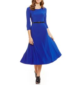 Shop for Investments 3/4 Sleeve Belted Knit Dress at Dillards.com. Visit Dillards.com to find clothing, accessories, shoes, cosmetics & more. The Style of Your Life.